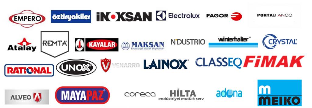 servis verdiğimiz markalar